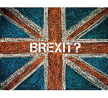 BREXIT concept over British Union Jack flag Photographic Print