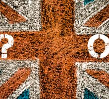 BREXIT concept over British Union Jack flag, IN versus OUT message Sticker