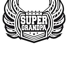 Cool Super Grandpa coat of arms logo by Style-O-Mat