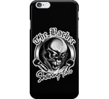 Barber Skull: Shaving Face iPhone Case/Skin
