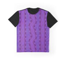 Squares Purple Graphic T-Shirt
