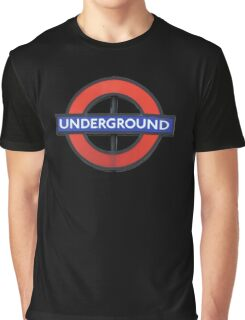 London Underground Sticker - The Tube Sign T-Shirt Graphic T-Shirt