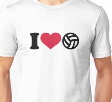 I love Volleyball ball Unisex T-Shirt