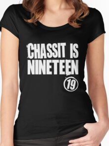 Chassit Is Nineteen Women's Fitted Scoop T-Shirt