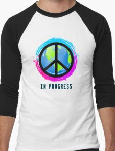 Peace In Progress Men's Baseball ¾ T-Shirt