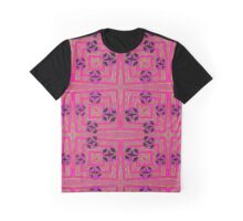 Pink crazy abstract Graphic T-Shirt