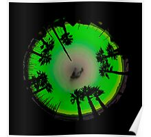Planet Palm Trees - Mint Julep Poster