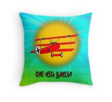 The Red Baron WW1 Fighter Ace - pillow & tote Throw Pillow