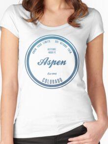 Aspen Ski Resort Wyoming Women's Fitted Scoop T-Shirt