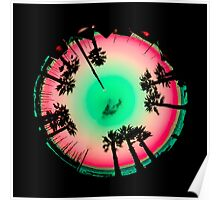 Planet Palm Trees - Watermelon Poster