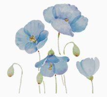 Blue Poppy Kids Tee