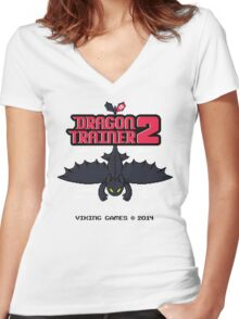 DRAGON TRAINER 2 Women's Fitted V-Neck T-Shirt