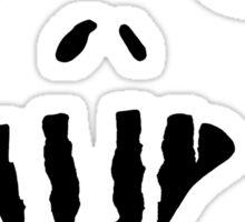Spooky Face 1  Sticker
