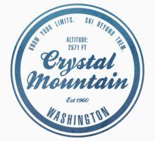 Crystal Mountain Ski Resort Washington One Piece - Short Sleeve