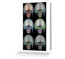 Undead Biker helmet Skull Zombies multi Greeting Card