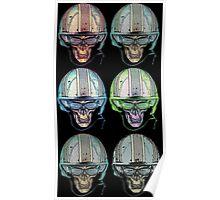 Undead Biker helmet Skull Zombies multi Poster