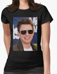 chris evans lookin cool Womens Fitted T-Shirt