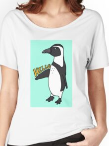 Hello African Penguin Women's Relaxed Fit T-Shirt
