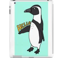 Hello African Penguin iPad Case/Skin