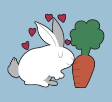 Cute Bunny and a Carrot Kids Tee