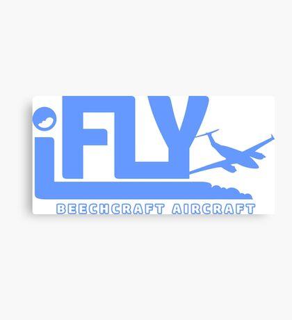 iFLY Beechcraft Aircraft Canvas Print