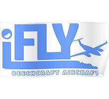 iFLY Beechcraft Aircraft Poster