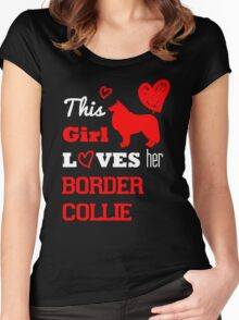 This Girl Loves her Border Collie Women's Fitted Scoop T-Shirt