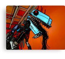 Scrap Godzilla Canvas Print