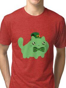 Clover Kitty Tri-blend T-Shirt