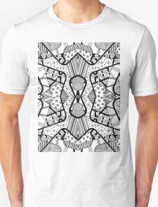 Miniature Aussie Tangle 12 Pattern in Black Unisex T-Shirt
