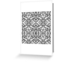 Miniature Aussie Tangle 12 Pattern in Black Greeting Card