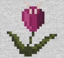 Purple Pixel Flower Kids Clothes