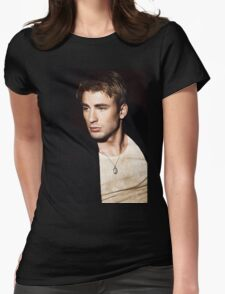 chris evans  Womens Fitted T-Shirt