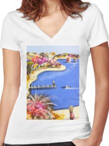 When you arrived Women's Fitted V-Neck T-Shirt