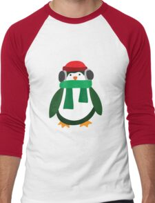 Snow Penguin  Men's Baseball ¾ T-Shirt