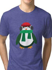 Snow Penguin  Tri-blend T-Shirt