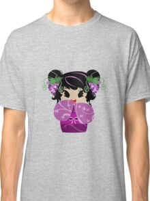 Purple Grapes Kokeshi Doll Classic T-Shirt