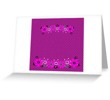 Seamless floral pattern with flowers on polka dot print background Greeting Card