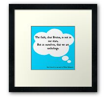 The (Real) Fault in Our Stars Framed Print