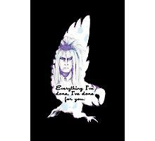 Labyrinth Everything I've Done Owl Photographic Print