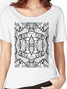 Miniature Aussie Tangle 12 Pattern in Black Alternate Options Women's Relaxed Fit T-Shirt