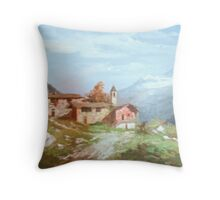 Italian village Throw Pillow