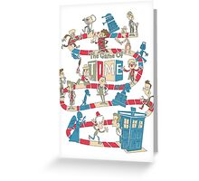 The Game Of Time Regenerated Edition Greeting Card