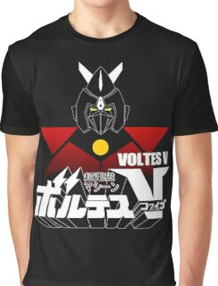 JAPAN CLASSIC RETRO ANIME ROBOT VOLTES V FIVE  Graphic T-Shirt
