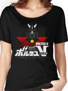 JAPAN CLASSIC RETRO ANIME ROBOT VOLTES V FIVE  Women's Relaxed Fit T-Shirt
