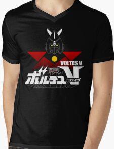 JAPAN CLASSIC RETRO ANIME ROBOT VOLTES V FIVE  Mens V-Neck T-Shirt
