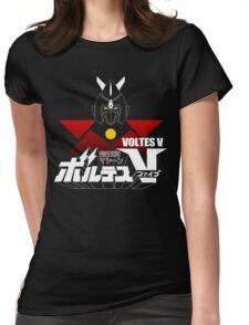 JAPAN CLASSIC RETRO ANIME ROBOT VOLTES V FIVE  Womens Fitted T-Shirt