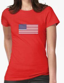 American Flag Dress - USA Stars & Stripes Skirt Womens Fitted T-Shirt