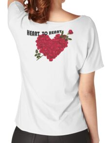 Heart TO Heart ROSE Women's Relaxed Fit T-Shirt