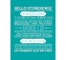 Doctor Who - The Pandorica Opens Typography Print Photographic Print